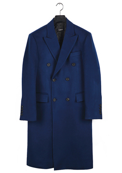[206 HOMME]2015-16 F/W NEW COLLECTIONHAND-MADE™ BLUE DOUBLE TAILORED LONG COAT(CASHMERE WOOL 100%)MAN + WOMAN(CT-127)