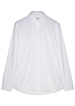 [206 HOMME]2020 S/S NEW COLLECTIONMINIMAL WHITE HIDDEN SHIRTS(SH-083)