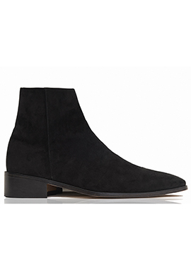 [206 HOMME]2020 S/S NEW COLLECTION2015-16 F/W NEW COLLECTIONRUNWAY BLACK SUEDE ANKLE BOOTS(SS-053)
