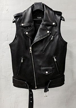 [206 HOMME by LEE YOUNG JUN]STANDARD-FIT™ BELTED SHEEP-SKIN VEST(LT-061)(남성용 + 여성용)