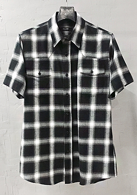 [206 HOMME][베스트상품 재생산 시작]COLLECTIONBLACK & WHITE GRADATION WESTERN SHIRTS(SH-023)