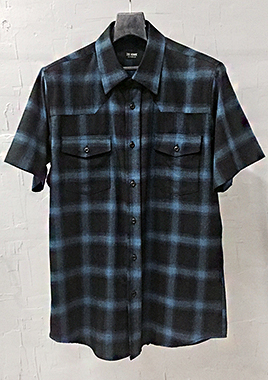 [206 HOMME][베스트상품 재생산 시작]COLLECTIONBLUE & BLACK GRADATION WESTERN SHIRTS(SH-021)