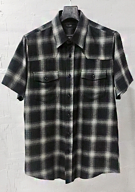 [206 HOMME][베스트상품 재생산 시작]COLLECTIONGRAY & BLACK GRADATION WESTERN SHIRTS(SH-022)