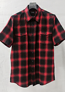 [206 HOMME][베스트상품 재생산 시작]COLLECTIONRED & BLACK GRADATION WESTERN SHIRTS(SH-020)