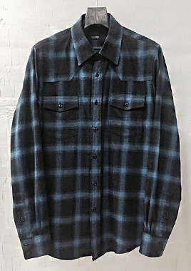 [206 HOMME][베스트상품 재생산 시작]COLLECTIONBLUE & BLACK GRADATION WESTERN SHIRTS(SH-109)