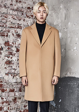 [206 HOMME]2016-17 F/W NEW COLLECTIONHAND-MADE™ SEMI OVER-FIT BEIGE-CAMEL HIDDEN COAT(CASHMERE 20% + WOOL 80%)(CT-170)